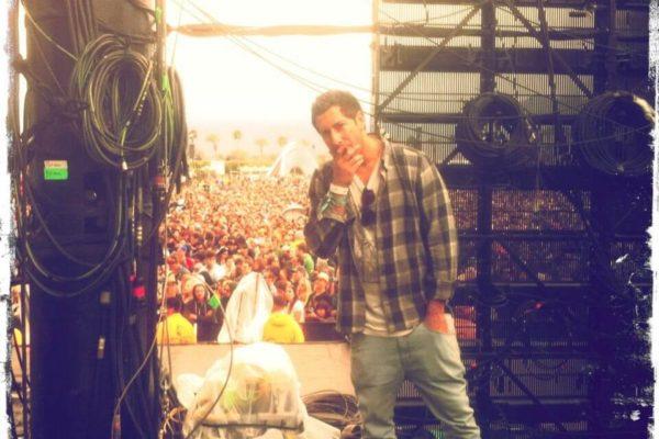 Jason Swartz Alliance Talent backstage Coachella for Kings of Leon