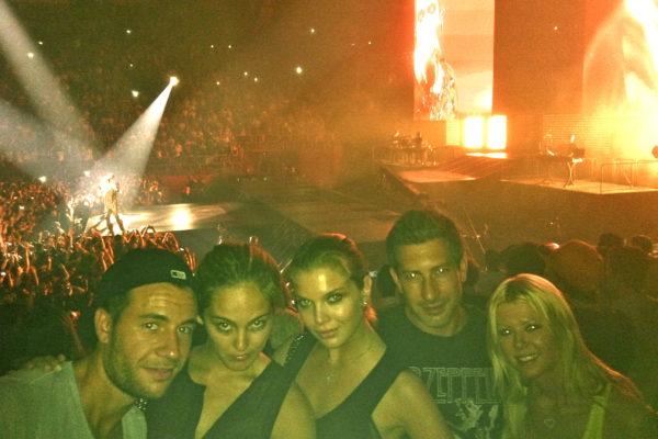 Jason Swartz with Tara Reid, Andrea Feick, Paris, Jay Z, Kanye West